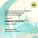 selamat idul fitri 1441H fakultas teknologi informasi unibba