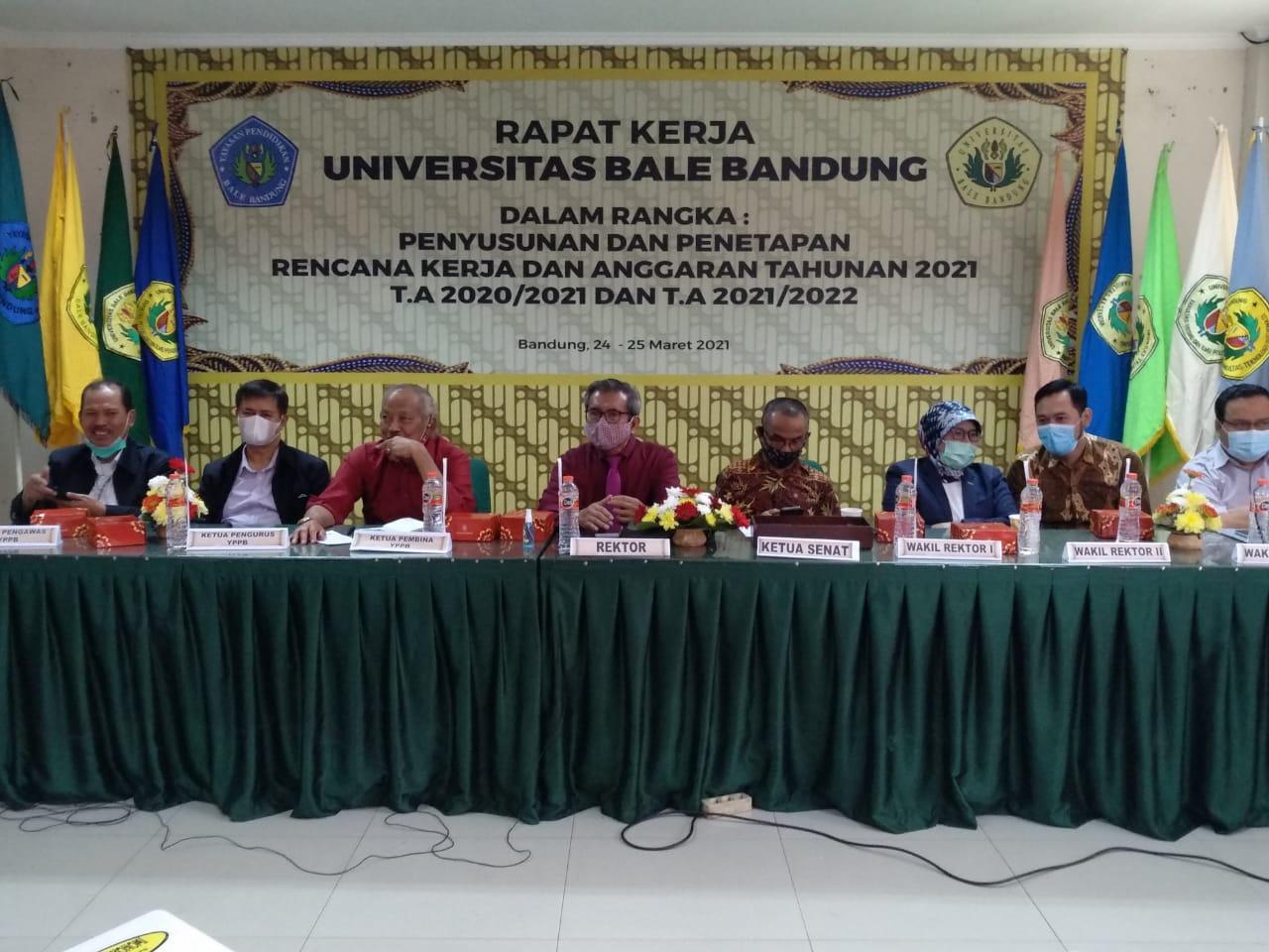 Rapat Kerja Penyusunan dan Penetapan RKAT Universitas Bale Bandung Tahun Anggaran 2021