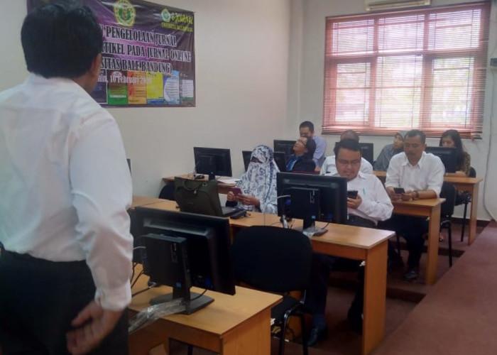 Read more about the article Pelatihan Submit Artikel dan Pengelolaan Jurnal Online di Lingkungan UNIBBA