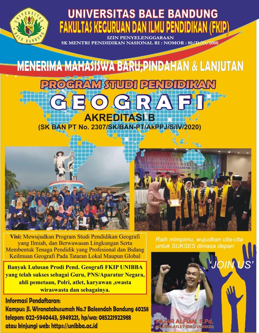 Read more about the article Informasi Penerimaan Mahasiswa Baru Prodi Pendidikan Geografi