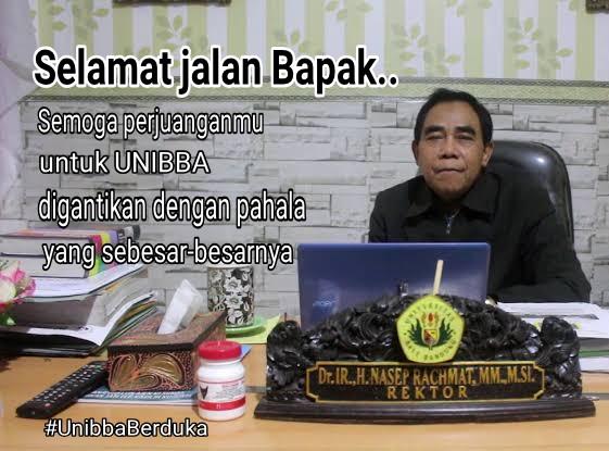 Read more about the article Berita Duka Cita – Rektor UNIBBA Periode Tahun 2016-2020 Brigjen TNI (Purn.) Dr. Ir. H. Nasep Rachmat, M.M., M.Sc. Meninggal Dunia